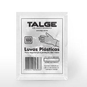 LUVA DESC TALGE C/100 PLASTICA
