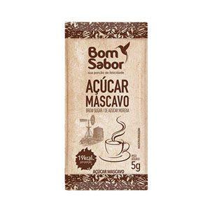 SACHE AÇÚCAR MASCAVO BOM SABOR 200X5GR