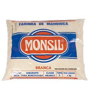 FARINHA DE MANDIOCA MONSIL BRANCA PL 1KG